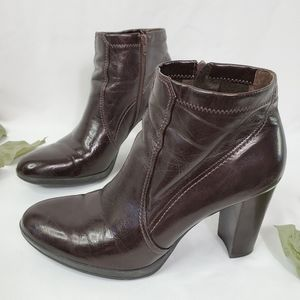Franco Sarto Chocolate Brown Faux Leather Booties